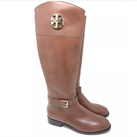 f849cf1ffb76 Tory Burch Boots Size 9 Adeline Veg Leather Riding